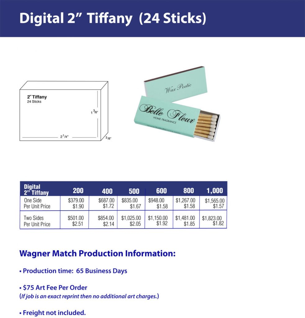 Quickrun Tiffany/Box 3 - Two inch